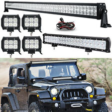 "52Inch 700W LED Light Bar Combo+20inch+4"" 18W Fit Jeep Wrangler JK YJ TJ CJ LJ"