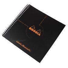 Rhodia Reverse Dot Libro A5+ Negro Espiral arquitectos cuadrícula de Arte Gráfico Cojín de nota