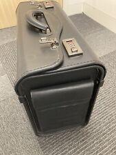 Black Leather Pilot Briefcase