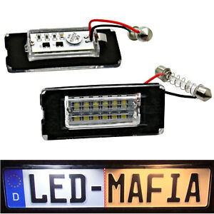 2x Mini Cooper R56 - LED License Plate Light Module - 6000K - Plug -and-play