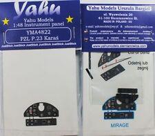 Yahu Modelos YMA4822 1/48 PE PZL P.23 Karas Panel de Instrumentos Mirage