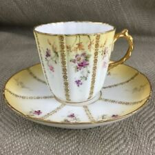 Multi Porcelain/China Date-Lined Ceramic Cups & Saucers