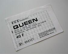 QUEEN : Paris France Concert Ticket Live Killers Tour French Stub 1st March 1979