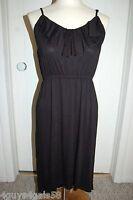 Womens Knit Dress SOLID BLACK HI-LOW Ruffle S 4-6 M 8-10 L 12-14 XL 16-18
