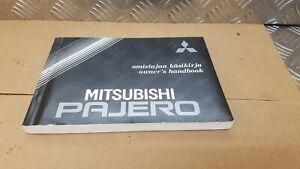 Mk1 Mitsubishi Shogun Pajero owners handbook manual operating book 2.5 1989 1990