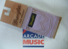 Wrangler pick pocket for plectrums attaches to guitar strap colour orchid.