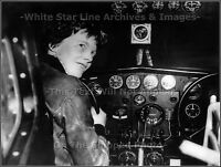 Photo: Amelia Earhart Night View Inside The Cockpit Of Her Lockheed Electra 1937