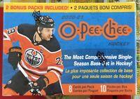 2020-21 O-Pee-Chee OPC Hockey Factory Sealed Blaster Box NHL