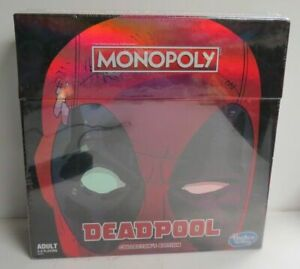 New Sealed Monopoly Deadpool Collectors Edition Adult 2-6 Player Board Game