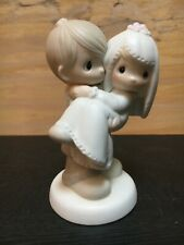 """Precious Moments """"Bless You Two"""" Wedding Cake Topper"""
