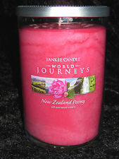 NEW YANKEE CANDLE World Journeys New Zealand Peony Large 20 oz Jar Two-Wick RARE