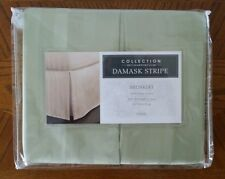 """Collection by Charter Club Damask Stripe BedSkirt Twin. 500 thrd. cnt. 16"""" drop"""