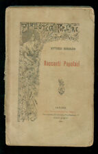 BERSEZIO VITTORIO RACCONTI POPOLARI GIANNOTTA 1898 BIBL. POPOLARE CONTEMPORANEA