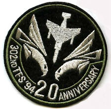 JAPAN F-4 302ND TFS 20TH ANNIVERSARY EMBROIDERED PATCH