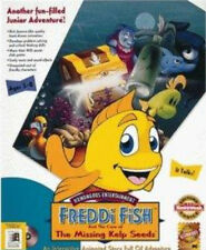 Freddi Fish 1 the Case of Missing Kelp Seed PC new Win95 CD + Win7-64 patched CD