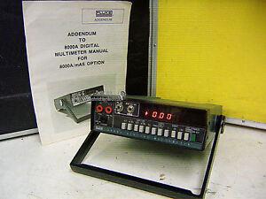 Fluke 8000A Tischmultimeter, mit Akku und mAs - Spezialfunktion !