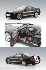 2007 FORD MUSTANG SHELBY GT500 Black with White Stripes 1/18th Scale AUTOart