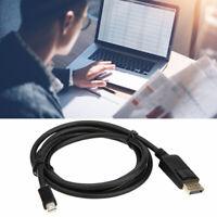 1.8M Mini DP Display Port DisplayPort to DisplayPort Male Cable Lead G9C