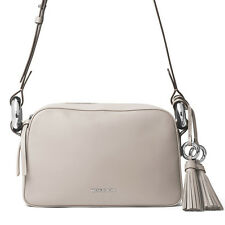 Michael Kors GRAND Medium Shoulder Cement Gray Leather Handbag 30S7SG6L2L NWT