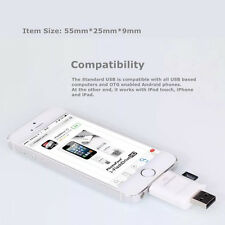 New USB i-Flash Drive HD Micro SD/TF Memory Card Reader Adapter For iPhone iPad