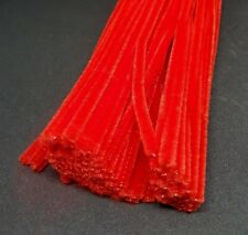 50 x Jumbo Premium Craft Pipe Cleaners Chenille tiges 300 mm x 6 mm-Rouge
