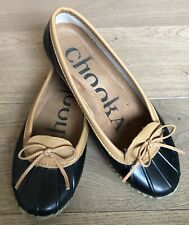 Chooka Black Duck Skimmer Slip on Shoes rubber womens size 7 rain