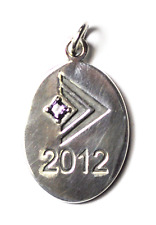 Sterling Silver Silpada Designs 2012 Oval Manager & Director Forum Pendant 35mm