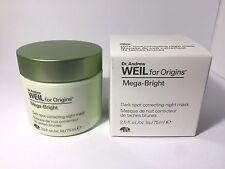 Origins WEIL MEGA BRIGHT DARK SPOT CORRECTING NIGHT MASK 2.5 oz. *NIB* RP$56.00