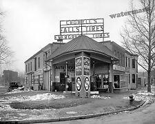 Photograph Vintage Crowells Standard Gas Station Washington DC 1921  8x10
