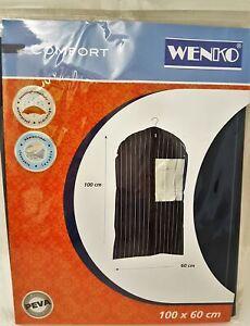 WENKO Kleidersack Comfort mit Sichtfenster und Reißverschluß 100x60 cm