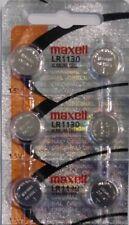 """6 Maxell LR1130 AG10 389 390 189 L1131 Alkaline Batteries """"Hologram"""""""