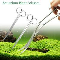 Aquarium Plant Tools Scissors Stainless  Planted Fish Tank Maintenance Curved