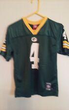 NFL Legend Green Bay Packers Brett Favre #4 Jersey Reebok Sz Youth Kids LG 14-16