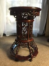 Rosewood Chinese Stool Hand Carved