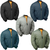 MA1 Flight Bomber Jacket Combat Army Military Air Force US Pilot Padded Cobles