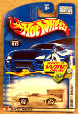 Hot Wheels ~ Corvette Stingray ~ Silver
