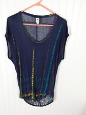 Lily White Tunic Blouse rayon blend Size Medium Scoop-neck shirt box25