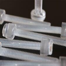 20 x tornillos de mariposa de plástico acrílico transparente, M6 x 20mm