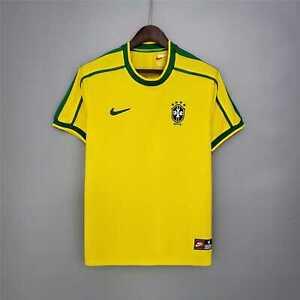 1998 Brazil Home Retro Soccer Jersey