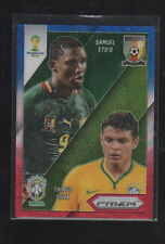 SAMUEL ETO'O/TIAGO SILVVA 2014 PANINI PRIZM WORLD CUP BLUE AND RED WAVE PRIZMS
