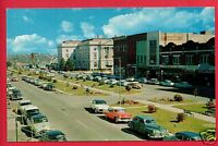 MACON GA THIRD STREET OLD CARS STORES 1961 POSTCARD
