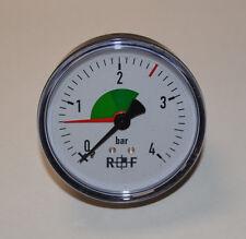 """RF R+F Manometer 111.12.080 0-4 bar Anschluss G 1/4"""" Neu OVP"""