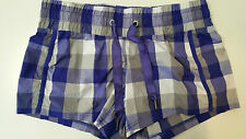 Lululemon Size 4 Leader of the Track Shorts Purple Plaid  summer run yoga  EUC
