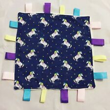 Taggie Comforter, Unicorns In Navy