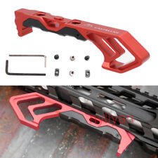 Metal FOREGRIP Angled Fore Grip MOD Rail for Keymod&M-LOK Compatible Mount Red