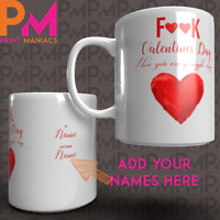 Personalised Valentines Gift Mug Funny Rude F**k Vday For Him His Her Add names