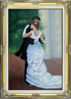 Framed Renoir Dance in the City Repro, 100%  Hand Painted Oil Painting 24x36in