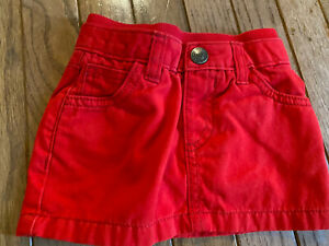 Old Navy Red Cotton Skirt 3-6 Months