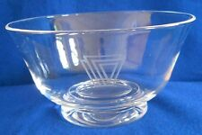 Steuben Crystal - Revere Bowl #8330 by Paul Schulze c.1976 with Unknown Logo