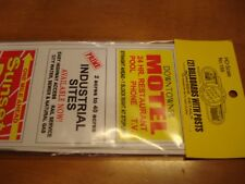 Blair Line HO Scale Billboard Roadside Signs With Posts  (2) Kits # 166